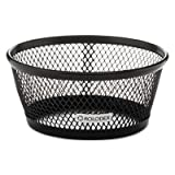 Jumbo Nestable Paper Clip Dish, Wire Mesh, 4 3/8'''' Diameter x 2'''' , Black, Sold as 1 Each