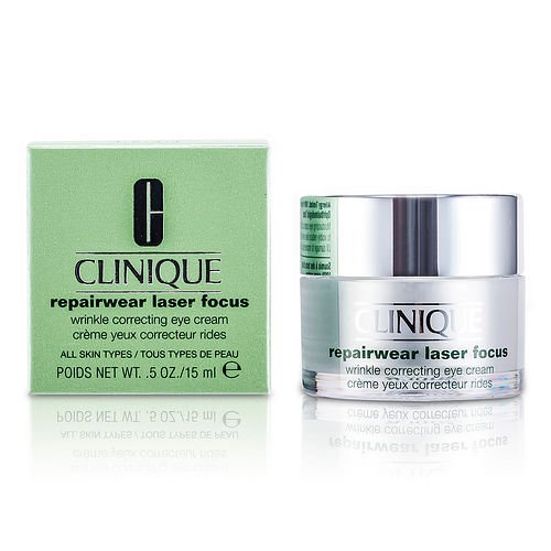CLINIQUE by Clinique Repairwear Laser Focus Wrinkle Correcting Eye Cream --15ml/0.5oz for WOMEN ---(Package Of 2)