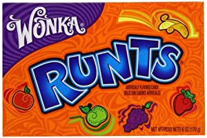 Wonka Runts Candy, 6-Ounce Packages (Pack of 12)