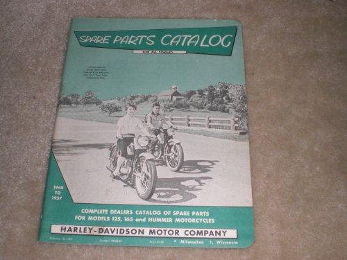 1948-1957 Harley Davidson Spare Parts Catalog for All Singles Models 125, 165 and - Harley Davidson Hummer