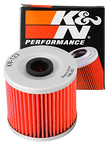 KN-123 K&N Performance Oil Filter; POWERSPORTS CARTRIDGE (Powersports Oil Filters):