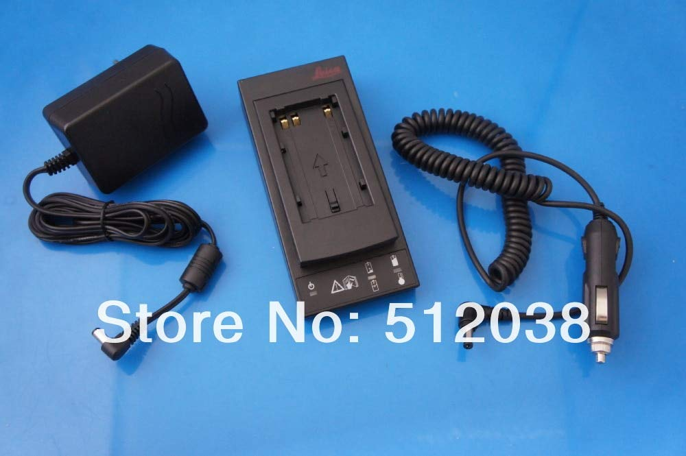 Fincos GKL211 Basic Battery Charger for Leica GEB211,GEB212,GEB221,GEB222,TS02,TS06,TS09 Batteries with Car Charger