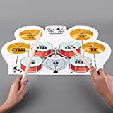 Portable Drum Kit For Children Adults Portable USB Powered, Portable Roll-up USB Drum, 8 Special Drum Pad Effects, Create your own sets, Easy to use