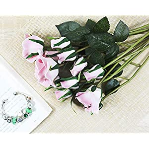 Fanxieast Artificial Flowers Tulip/Gerbera/Calla Lily Bouquet Luxury Artificial Plant for Home Decor, Wedding,Garden,Patio Decoration 2