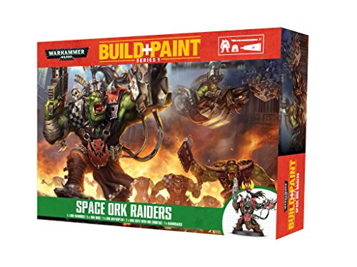 Warhammer 40K Build+Paint Model Set Series 1 Space Ork Raiders Revell