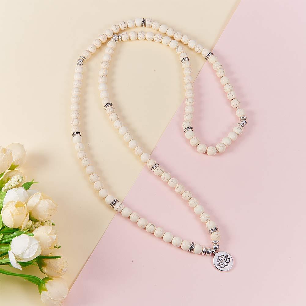 Elastic SUNNYCLUE 1 Bag DIY 108 Mala Prayer Beads Wrap Bracelets Necklace Making Kit Natural ite Gemstone 8mm Jewelry Starter Kit