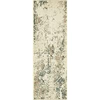 Unique Loom Sahara Collection Beige 2 x 6 Runner Area Rug (2 x 6)