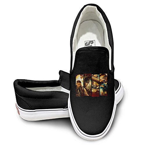 [DHome Max Road Oxford Unisex Flat Canvas Sneaker Shoes 42 Black] (Disney Cartoon Mad Hatter Costume)