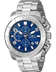 Invicta Mens Pro Diver Quartz Stainless Steel Casual Watch, Color:Silver-Toned (Model: 23404)