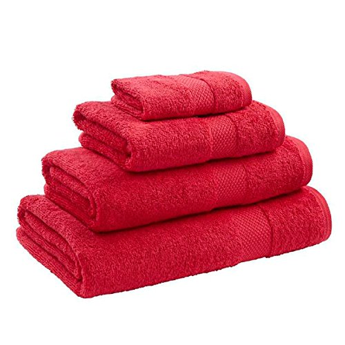 Catherine Lansfield Home 100% Egyptian Cotton Bath Towel, Red