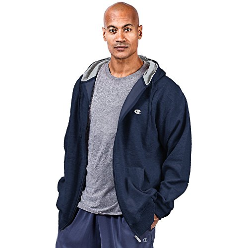 Champion Big & Tall Men's Zip Fleece Hoodie,,Navy,,6XL,2PK