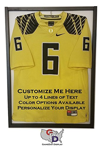 Image Unavailable. Image not available for. Color  Custom Jersey Display  Case Frame with White Backing and Hanger by GameDay Display d60e611ec