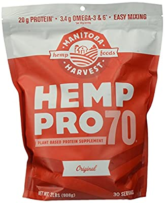 Manitoba Harvest Hemp Pro 70 Protein Powder, 32oz; with 20g of Protein per Serving, Non-GMO
