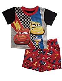 Disney Cars 3 Little Boys Toddler Poly Short Pajama Set