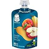 Gerber Graduates Grabbers Pouch, Apple Pear Peach, 3.5 Oz