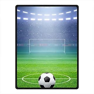 DOUBEE morbida, motivo: Soccer Football-Coperta in pile Coperta da Picnic Festival 127,00 cm x (50 152,40 (60 cm, Pile, E, 50' x 60'