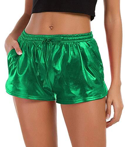 Womens Yoga Hot Shorts (Green, XL)