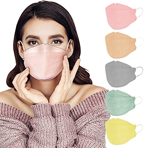 KF94 Mask for Women Men, 20 Packs Earth Tone Print Masks Individually Wrapped, Disposable Colored Mask Comfortable Fit for Adult, 4-Ply Breathable Mask with Adjustable Nose Wire