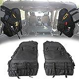 Opall Saddlebag Roll Bar Storage Bag Cage with Multi-Pockets & Organizers & Cargo Bag Tool Kits for Jeep Wrangler 1997~2018 Jeep Wrangler JK TJ LJ & Unlimited Rubicon 4 Doors