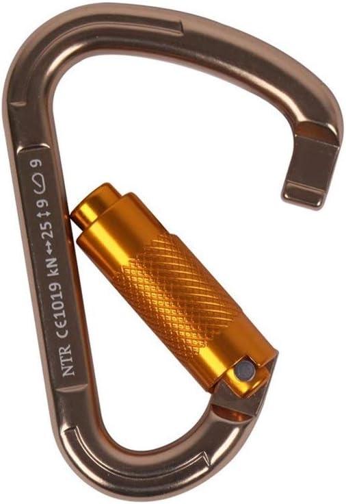 Muziwenju ナシ形のロッククライミングカラビナ、オートロックおよびヘビーデューティー、登山用およびラペリング用CE認証、カラビナドッグリーシュ、Lサイズ、(10パック) 最高の贈り物 (Color : ゴールド(10 Pack)) ゴールド(10 Pack)