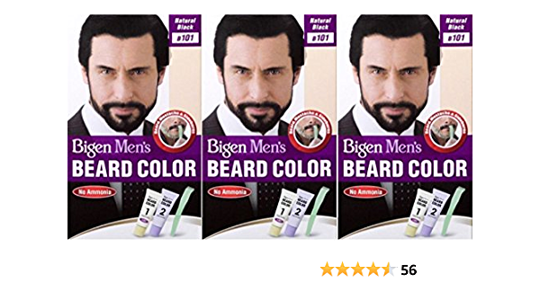 Bigen Barba para hombre color negro natural B101 (paquete de 3)