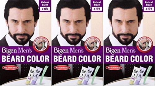 Bigen Men's Beard Colour B101 Natural Black X 3 Packs by Bigen
