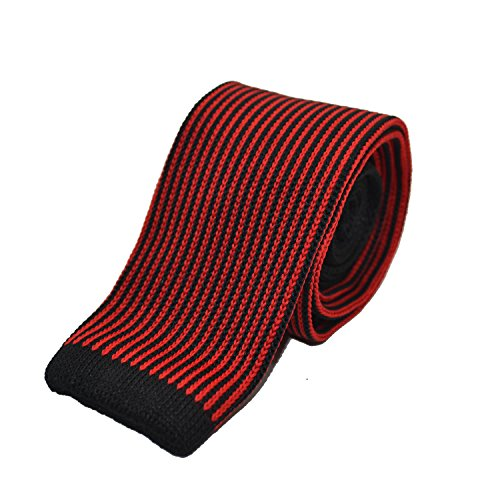 Black in stripes Men's Knitted Exclusive Tie London Butlers long of box luxury gift with red v1q6Yxf