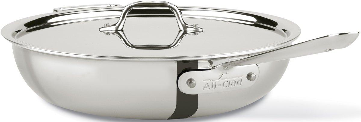 All-Clad 8701005075 All- Pan, 4 Quart Silver