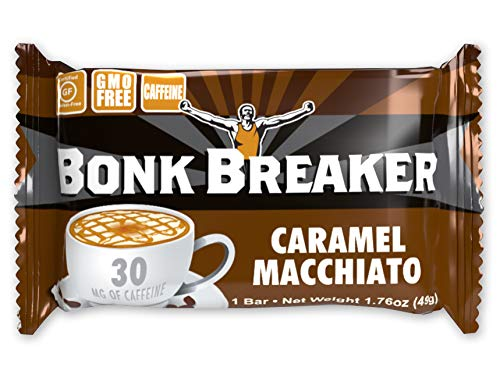 Bonk Breaker Energy Bar, Caramel Macchiato, 1.76 Oz (12 Count), Gluten Free & Dairy Free