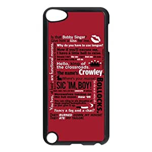 Funny SPN Supernatural Quotes Protective Hard PC Back Fits Cover Case for iPod Touch 5, 5G (5th Generation)