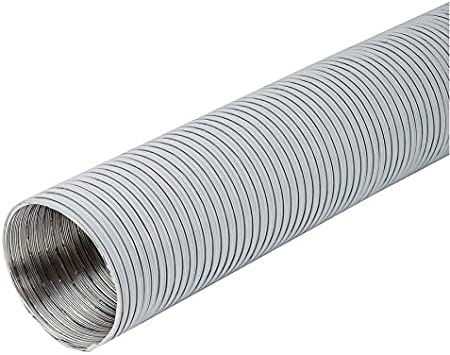 Tubo flexible de aluminio de 125 mm de diámetro y 1,5 m de longitud, color blanco: Amazon.es: Bricolaje y herramientas