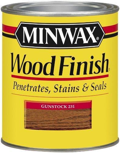 - Minwax 22310 1/2 Pint Wood Finish Interior Wood Stain, Gunstock by Minwax