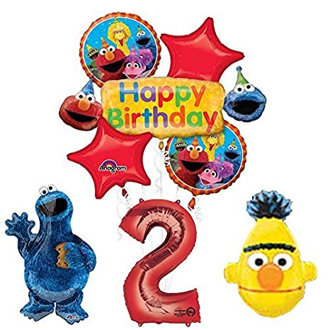 Image Unavailable Not Available For Color The Ultimate Sesame Street And Friends 2nd Birthday Supplies Decorations