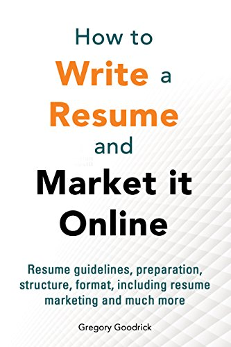 Amazoncom How to write a resume and market it online Resume