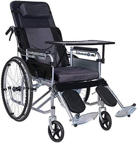 自走用 車いす フルリクライニング車椅子自走介助兼用ノーパンクタイヤ折りたたみ手動着席セミ横たわっ全横たわるマニュアル強く丈夫手動