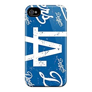 Cases-best-covers Iphone 4/4s Shockproof Hard Cell-phone Case Allow Personal Design HD Los Angeles Dodgers Image [hZJ15183wBSH]