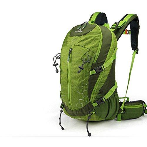 YYY-Morral al aire libre montañismo bolso L 30 hombres y mujeres alpinismo multifuncional paquete caballo bandolera Coreano impermeables mochila , green Green