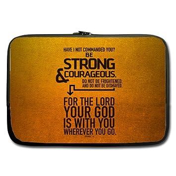 15.6 inch sensación Biblia versículos popular funda para portátil 100% resistente al agua neopreno bolsa de ordenador portátil funda (doble cara, ...