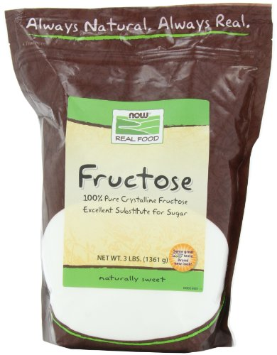 Fructose Fruit Sugar - NOW Foods Fructose Granules, 48-Ounce (Pack of 4)