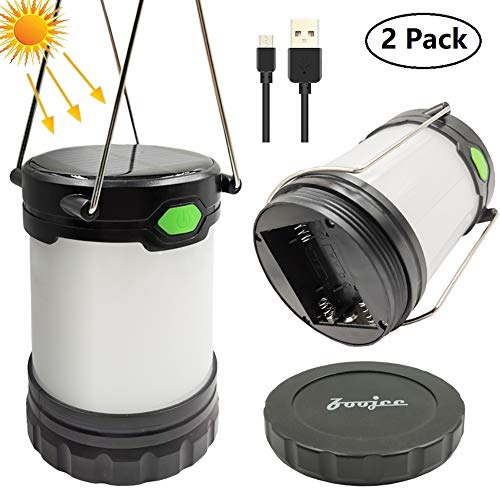 (USB Rechargeable Solar Lantern, Battery Operated Lamp, Waterwroof and Portable LED Camping Lamp, Great Solar Powered Lantern for Emergency, Hurricane, Power Outage, Outdoor Camping Tent)