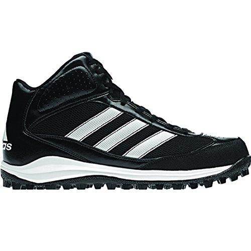 adidas Performance Men's Turf Hog LX Low Football Cleat,Black/White,10 M US