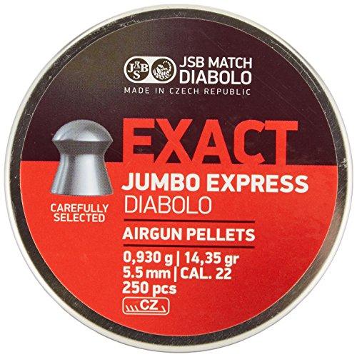 JSB Diabolo Exact Jumbo Express .22 Cal, 14.3 Grains, Domed, 250ct
