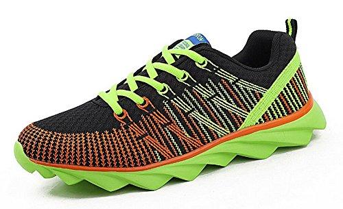 JiYe Sportschuhe Männer Frauen Outdoor Tennis Jogging Walking Fashion Sneaker, Laufschuhe Grün