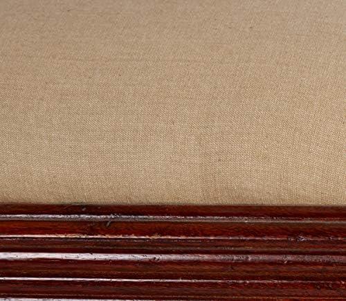 Better & Best 0560997–Petite Chaise de Bois Sombre, avec en écru, Bois, Marron, 45.5x 35x 61cm