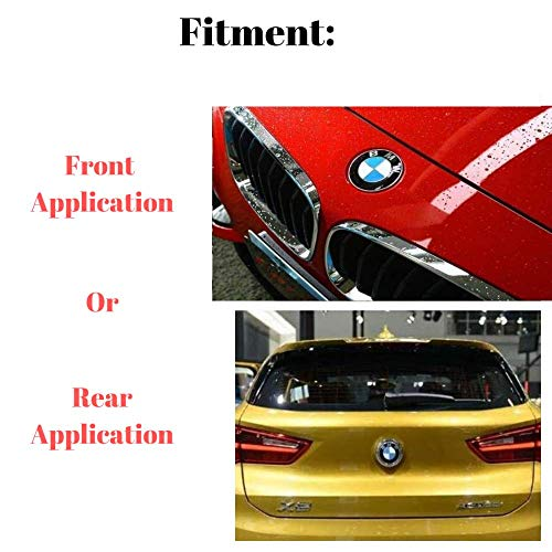 82mm BMW Emblem Logo Replacement for Hood//Trunk 82mm for ALL Models BMW E30 E36 E46 E34 E39 E60 E65 E38 X3 X5 X6 3 4 5 6 7 8