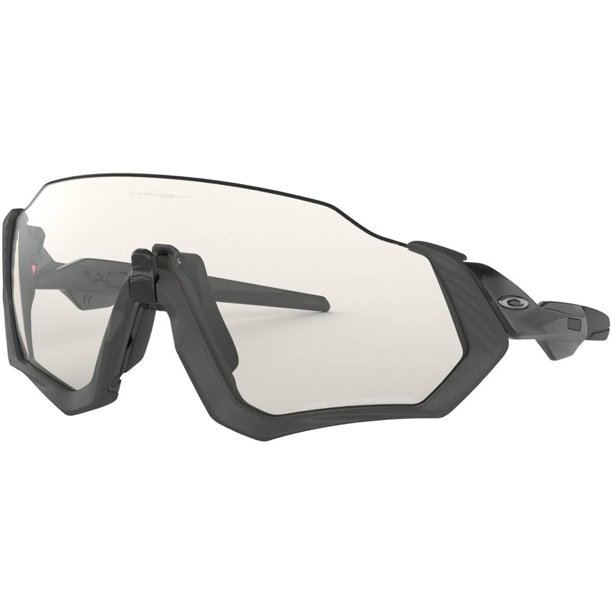 Oakley Men's OO9401 Flight Jacket Shield Sunglasses, Steel/Photochromic, 37 mm by Oakley