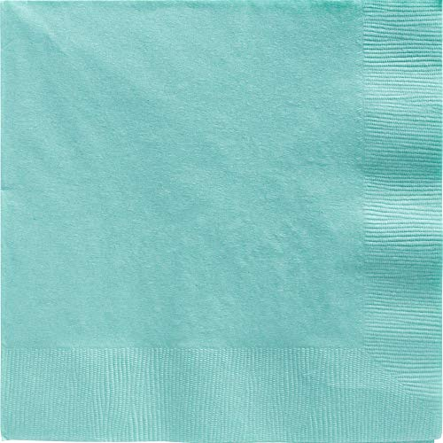 Amscan 2-Ply Robin's Egg Blue Dinner Napkins, 50 Ct. | Party -