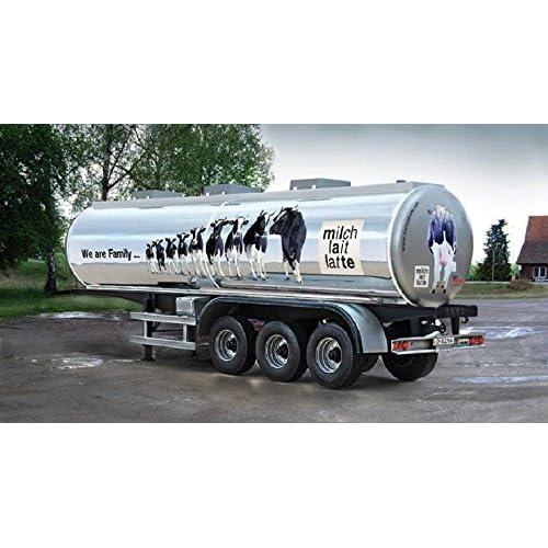 Carson 510003911–1: 24The familiy, Swiss Milk Réservoir Trailer, véhicule
