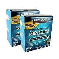 Kirkland Minoxidil Recrecimiento de cabello extra fuerte 5% para hombres (1 año de suministro)