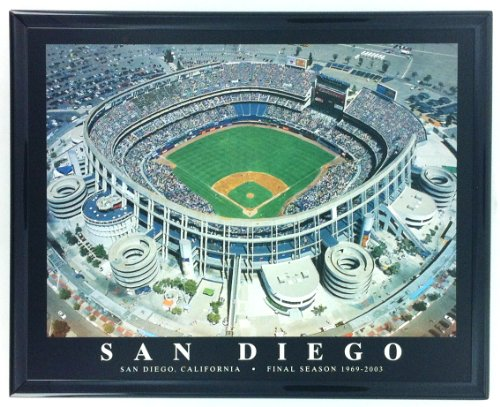 San Diego Padres Qualcom Stadium Framed Aerial Photo (San Diego Padres Stadium)
